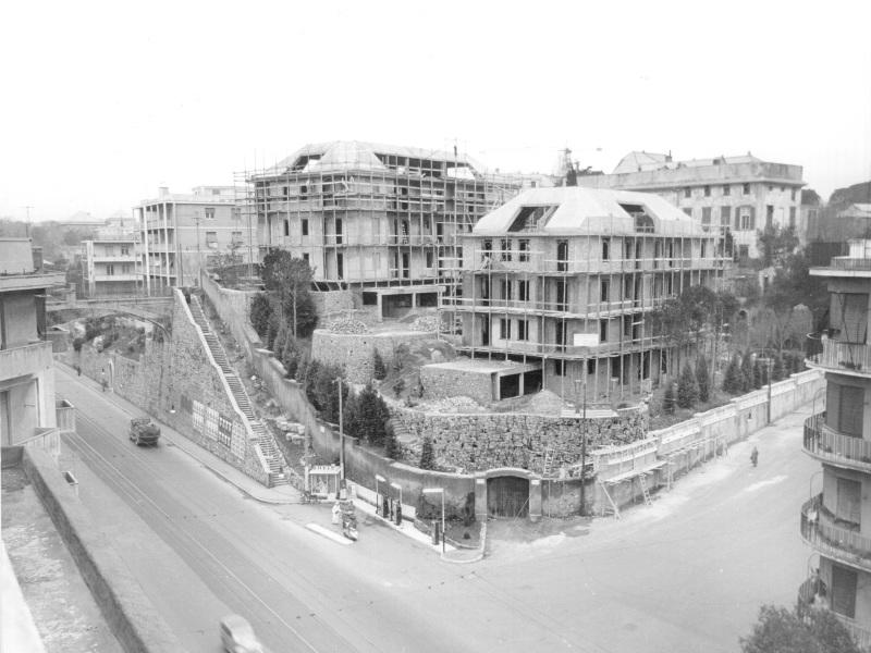 Villa Margherita  con ponteggi