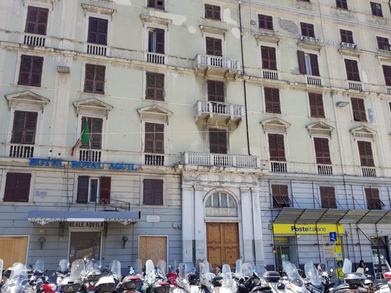 Ristrutturazione ex Hotel Royal Aquila